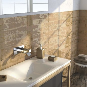 Ceramic Wall Tile Grunge Dorato 7.5 x 30