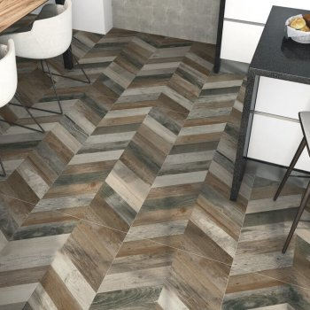 Brown deck Chevron Porcelain Tiles