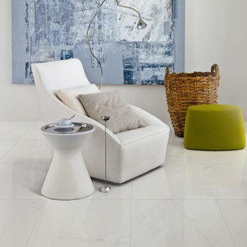 Porcelain Tile White Crystal Polished Rectifie