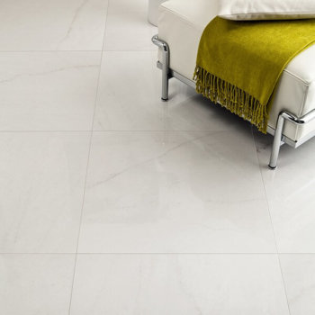 Porcelain Tile White Crystal Matt Rectified